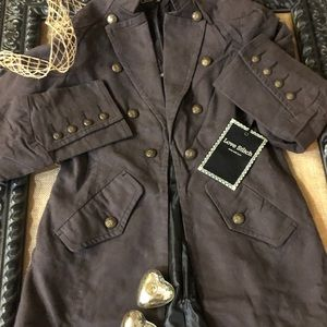 NWT Love Stitch Vintage Military Style Coat Size M